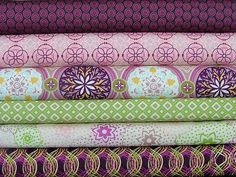 Green + Purple = :-)  Bazaar Collection by Art Gallery Fabrics - available from SistersandQuilters on etsy.com