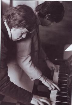 Mick and Keef of The Rolling Stones tinkling the ivories