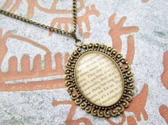 """To Kill a Mockingbird"" quotation bronze necklace"