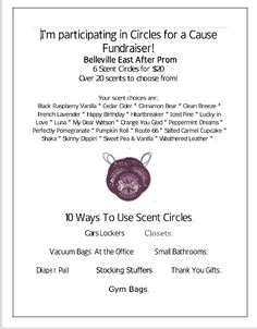 Scentsy Circle Fundraiser
