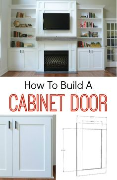 to Build a Cabinet Door How to Build a Cabinet Door. It's easier than you think! Learn how!How to Build a Cabinet Door. It's easier than you think! Learn how! Diy Cabinets, Built Ins, Remodel, Diy Home Improvement, Home, Home Diy, Cabinet Doors, Diy Furniture, Home Decor