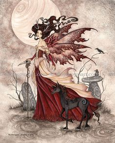The Red Queen fairy 8X10 PRINT by Amy Brown