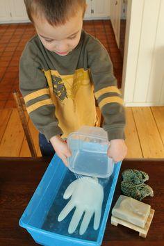 science for kindergartne - wash your hands!