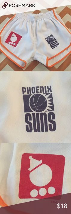 """Vintage Shorts This is a true vintage find!  Polyester and cotton shorts that feature both the Jack in the Box and Phoenix Suns logos. This particular Jack in the Box logo was only from 1978 - 1980. Suns logo design also from the time period.  Excellent condition. Look like they were never worn. These are labeled as a Youth 14 - 16 years old. 30 - 32"""" waist. I would consider these a Women's XS or small. Vintage Shorts"""
