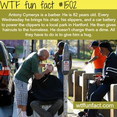 Antony Chrysler, an 82 years old barber. Amazing man WTF FUN FACTS HOME /  See MORE TAGGED/ people FACTS
