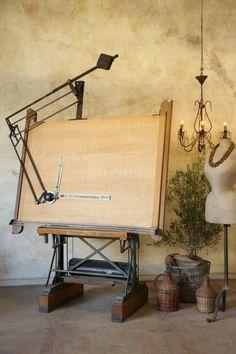 Vintage Mayline Drafting Table