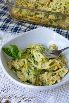 zucchini noodle and quinoa bake