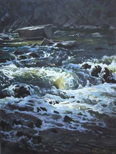 Still Rocks/ Rushing Water, Billywillinga 2008 Acrylic on canvas Art Thou, Landscape Paintings, Landscapes, Rocks, Canvas, Gallery, Water, Cityscapes, Travel