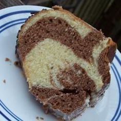 """German Marble Cake - """"This is a lovely cake with the taste of almond and chocolate and it is almost like a pound cake. Magic Cake Recipes, Marble Cake Recipes, Delicious Cake Recipes, Pound Cake Recipes, Dessert Recipes, Austrian Recipes, German Recipes, German Desserts, Austrian Food"""