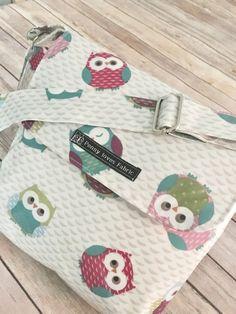 Owl bag owl purse owl print bag owl handbag by PennylovesfabricCo