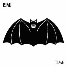 Time Examines The History of The Batman Logo gif