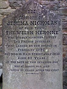 Gravestone of Welsh heroine Jemima Nicholas outside St Mary's Church, Fishguard Wales Uk, South Wales, Old Cemeteries, Cymru, Prince Of Wales, Women In History, Britain, How To Memorize Things, Genealogy