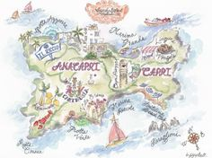 Kate Sutton Map of Naples and Amalfi Coast for bthere magazine