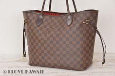 Louis Vuitton Damier Ebene Neverfull MM Tote Shoulder Bag N51105