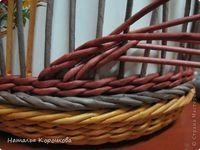 Поделка изделие День рождения Декупаж Плетение Вариации на тему косы Картон Салфетки Трубочки бумажные фото 11
