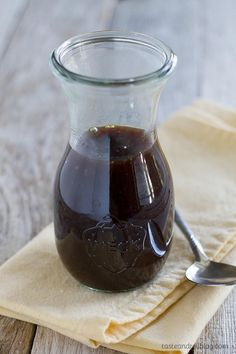 Teriyaki sauce recipe made from pantry staples. This sauce is bold and thick and is great as a marinade or as a sauce served with your favorite meats. Sauce Teriyaki, Homemade Teriyaki Sauce, Homemade Sauce, Teriyaki Chicken, Terriyaki Sauce, Homemade Recipe, Sauce Recipes, Cooking Recipes, Honey And Soy Sauce