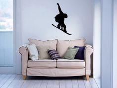 Snowboard Snow Sport Snowboarder Wall Vinyl Decal Sticker Housewares Art Design Murals Interior Decor Home Bedroom SV4974
