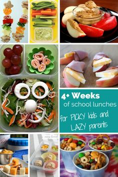 1 Month of cute, easy, school lunches for parents who don't have time to make adorable Bento boxes!