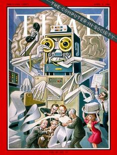 TIME Apr. 2, 1965: Computer in Society. Cover art by Boris Artzybasheff.