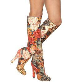 Dolce & Gabbana brocade floral boots