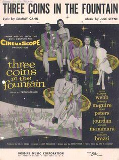Three Coins in the Fountain (1954) Rossano Brazzi & Louis Jourdan in the same film ... Hubba hubba