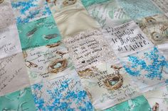 a guestbook you can cuddle with!  wedding quilt - each guest signs a square