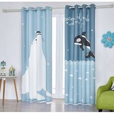 Eyelet Blackout Curtains for Boys Girls,Yellow and White Stars Window Curtain for Bedroom Nursery Geometric Style Child Kids Thermal Insulated 2panel Printed Polyester 46 x 54 inch WXD