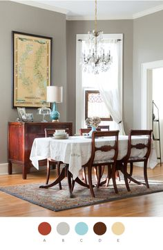 Maybe after I paint my dining room it will look that great. Look how the wood tones pop against the neutral paint.