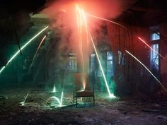 Showers of Sparks, Colorful Smoke Make Abandoned Places Come Alive This photographer uses fireworks to do more than celebrate the Fourth of July. This photographer uses fireworks to do more than celebrate the Fourth of July. Colored Smoke, Photo Lighting, Long Exposure, Light Painting, Photojournalism, Abandoned Places, Fireworks, Places To Visit