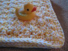 crochet pattern: bubbly baby blanket