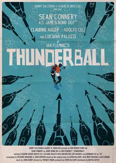 Thunderball - James Bond Movie Posters Reimagined in the Style of Saul Bass