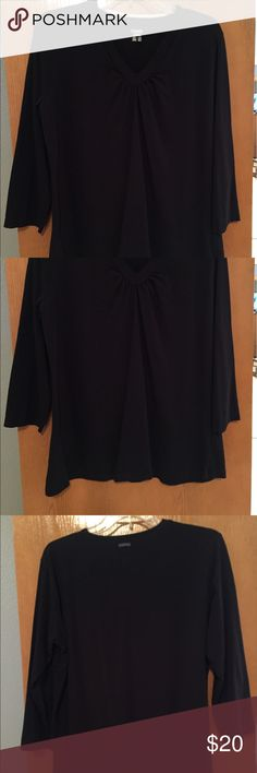 3/4 sleeve Columbia top Black 3/4 sleeve top by Columbia. V-neck, dressy, and comfortable. Columbia Tops