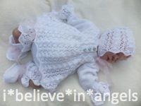KNITTING PATTERN KSB 49 C*L*O*V*E*R .. 4 PIECE SET FOR A BABY GIRL OR REBORN DOLL