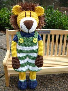 Lennard the crochet Lion ♥ von Schneckenkind auf Crochet Lion, Crochet Horse, Cute Crochet, Crochet For Kids, Crochet Animals, Crochet Dolls, Crochet Stitches, Crochet Baby, Knit Crochet