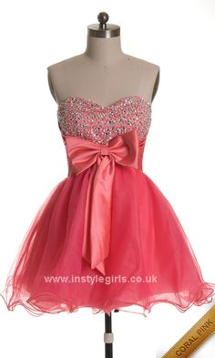 Pink Sweetheart Neck Cocktail Prom Dress homecoming dresses 2013