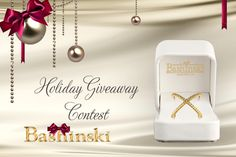 """Bashinski  Holiday Giveaway Contest! Win an exquisite '14k Yellow """"X"""" diamond ring with a round brilliant cut diamond total weight of .50 carat.' More info here: http://www.bashinski.com/?SERVICE=HOLIDAY_GIVEAWAY"""