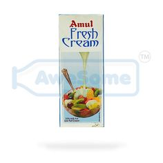 Amul: Amul is the leading brand in India for its food products and the beverage products and is known for high-quality milk and milk products.  Amul Fresh Cream: Amul fresh cream has been processed to give a smooth consistency. The cream can be stored for 4 months using refrigeration(until opened). The dairy-based drink is UHT(ultra heat treatment) treated which kills all germs and stays fresh until opened.