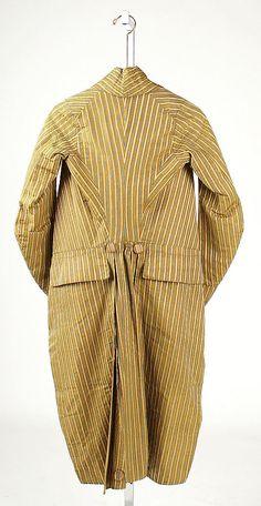 The Metropolitan Museum of Art- men's coat 1790-1795- good view of construction lines