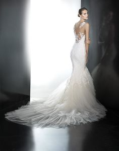 White Lily Couture Pronovias Proa Bridal Gown Visit link for details and to schedule your apppointment!