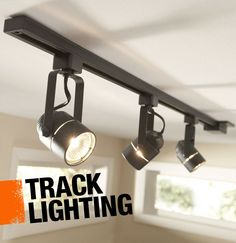 Track lighting describes the method of lighting in which several light sources are fitted onto a single track, making it easy for them to be repositioned without needing to move electrical wiring.