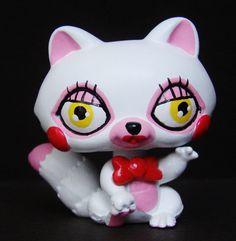 Mangle Toy Foxy FNAF Five Nights at Freddy's LPS OOAK custom figure Littlest pet #Hasbro