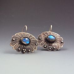 New silver and labradorite earrings by Dana Evans.