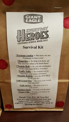 Customer service week employee kits and                              …