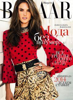 Alessandra Ambrosio for Harper's Bazaar Russia February 2014