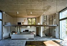 The Stone House  Local materials such as stone, marble and wood were used in this home.