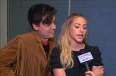 Sprousehart — youreapunk: Lili making an impression of Cole and...