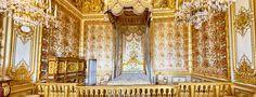 Versailles Koninklijke slaapkamer, prachtige wand en plafond decoraties