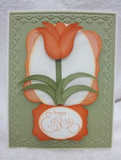 Stampin' Up!  Owl Punch  Barb Calbick  Tulip