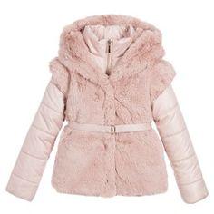 Mayoral - Girls Pink Padded & Fur 2-in-1 Gilet Jacket | Childrensalon