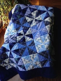 HST rag flannel and fleece lap quilt by M Piket